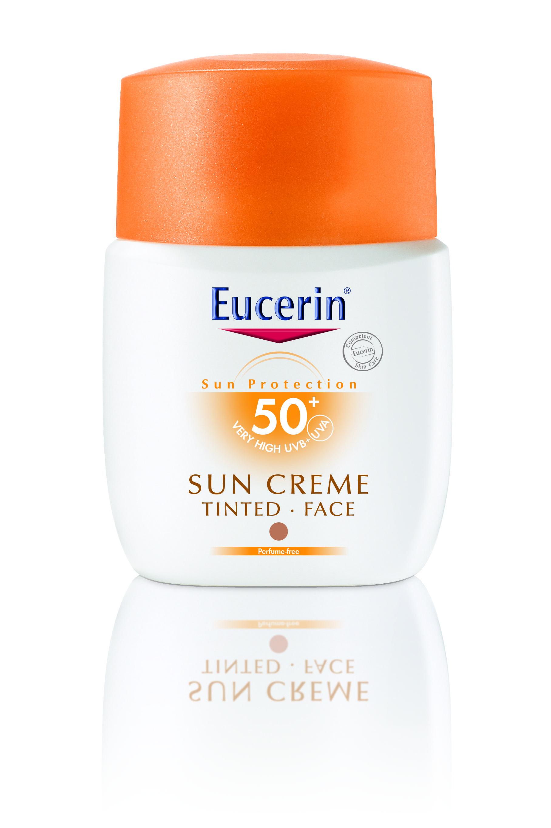 Precis som Vichy lanserar även Eucerin i år en färgad sportkräm. Spf 50+