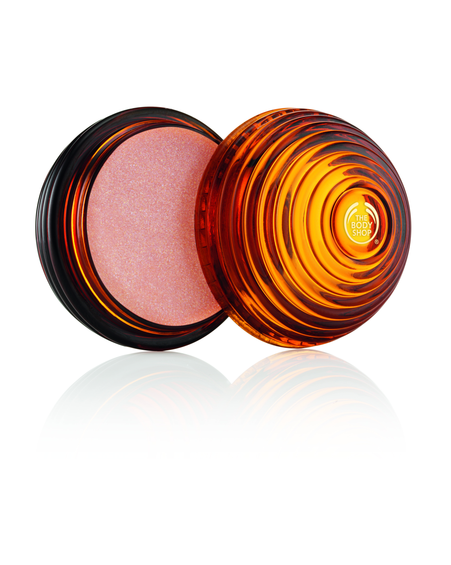 NEW Honey Bronze Shimmer Lip Balm (open)