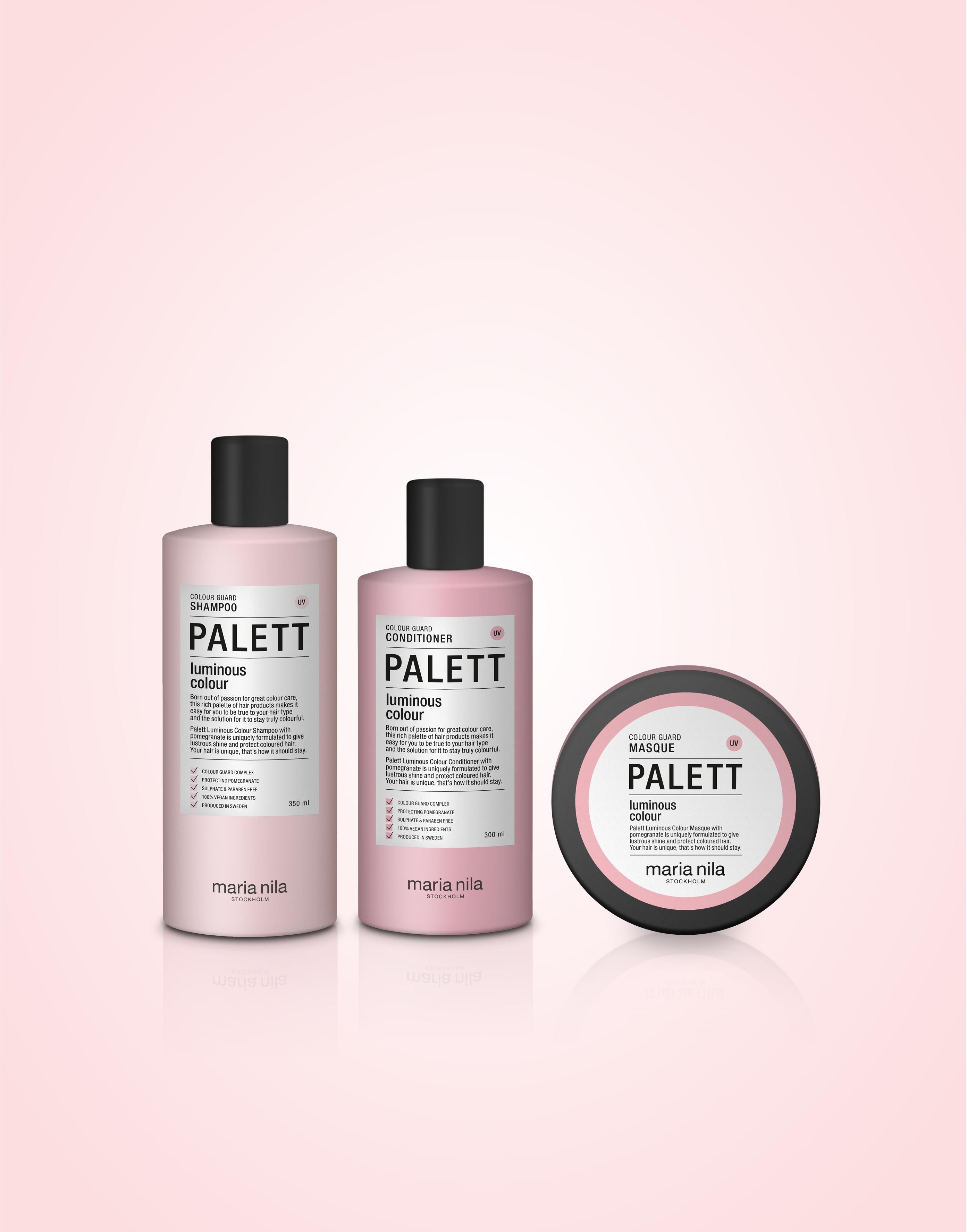 Svenska Maria Nila satsar på sulfat- och parabenfritt i sin nya schamposerie Palett
