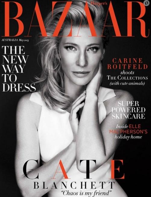 Cate på omslaget till Harper´s Bazaar i Australien