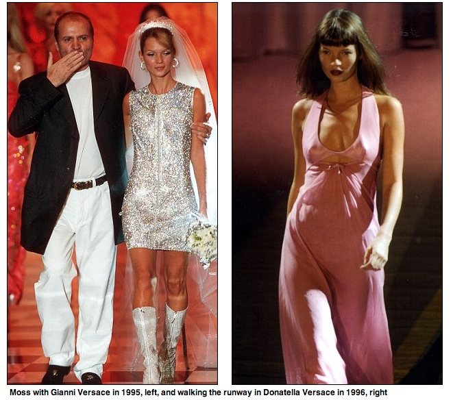 Kate med Gianni Versace 1995. Faksimil från Daily Mail.