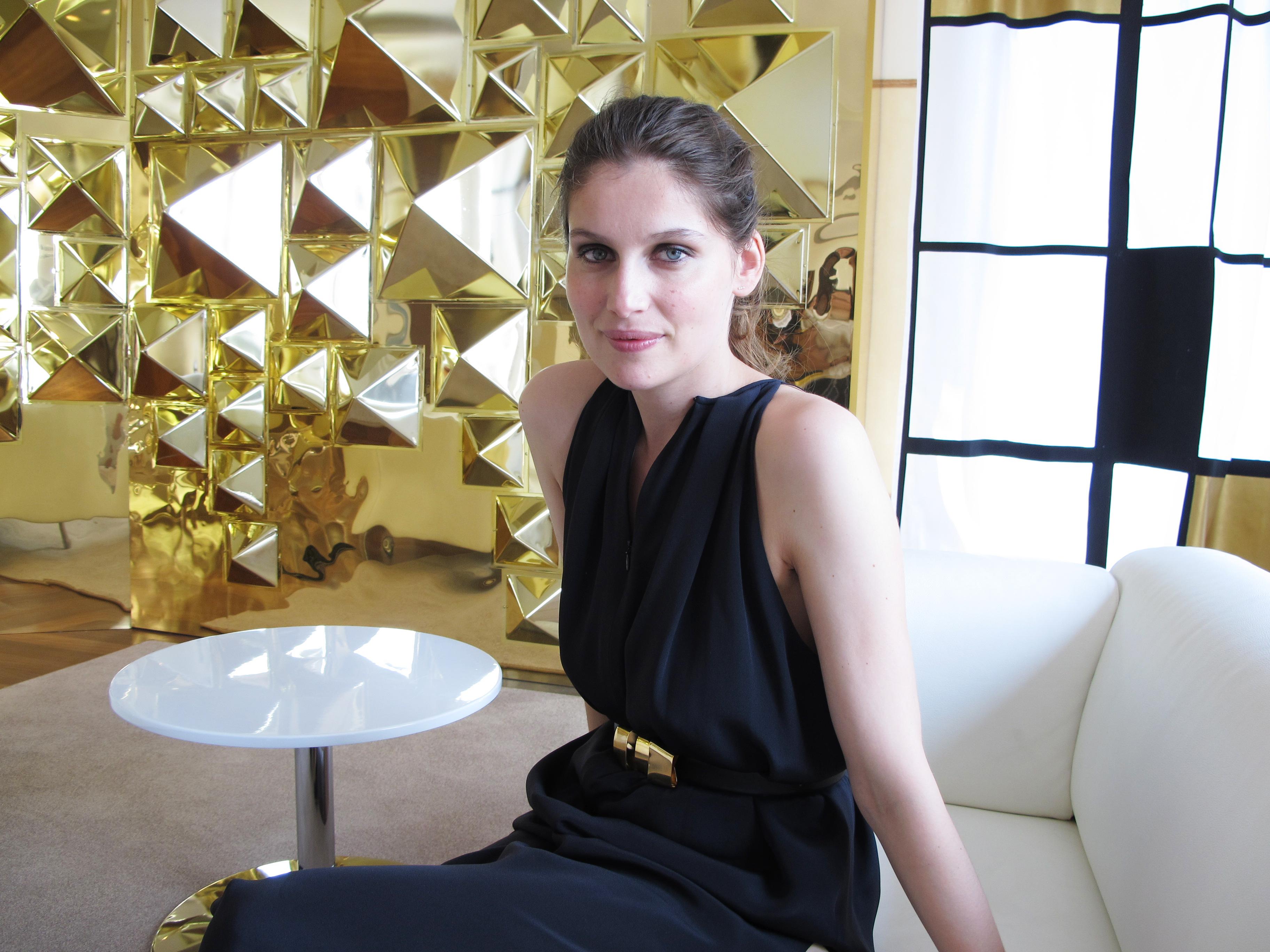 Franska toppmodellen Latetia Casta gillar inte att sminka sig. Foto: Agneta Elmegård