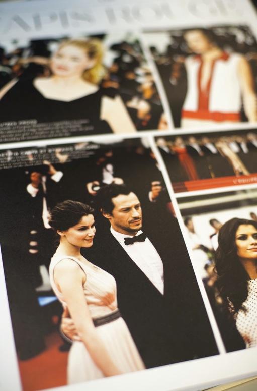 På röda mattan i Cannes med en anna Loreal model Peter Dempsey