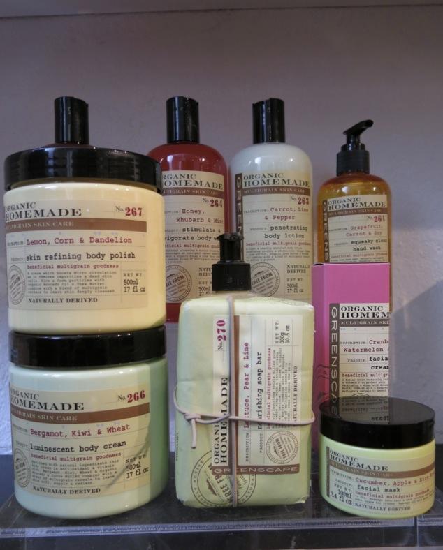 Organic Homemade finns i en massa olika hudvårdande produkter