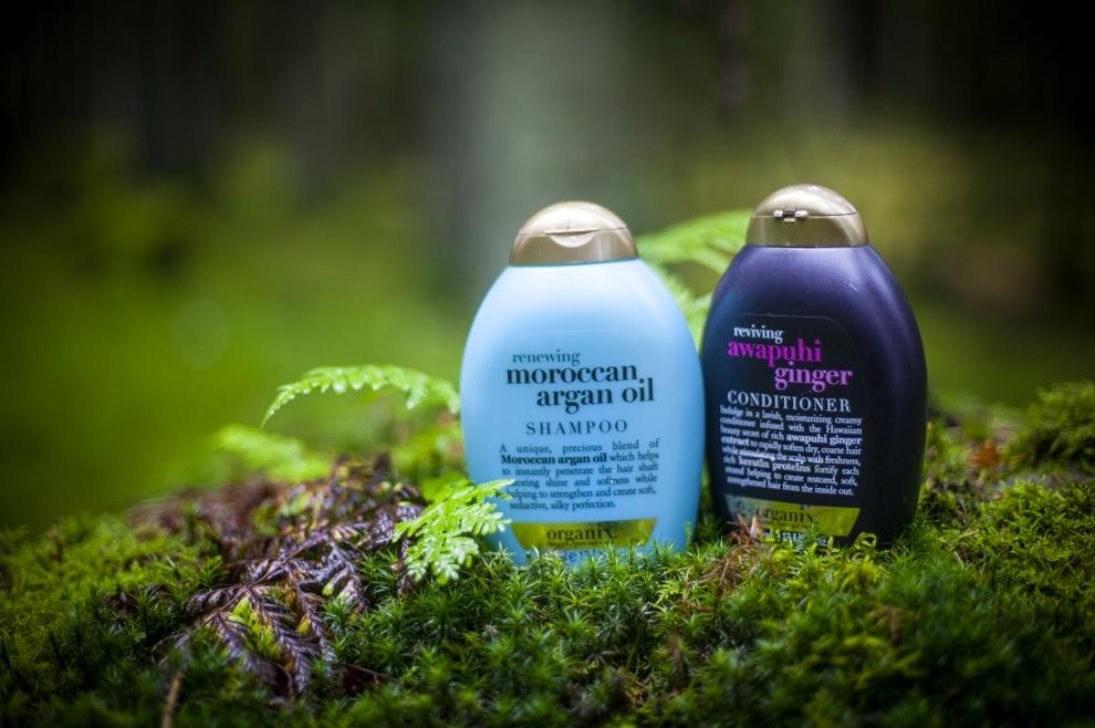 Stora i USA är Organix och deras Moroccan argan oil schampo