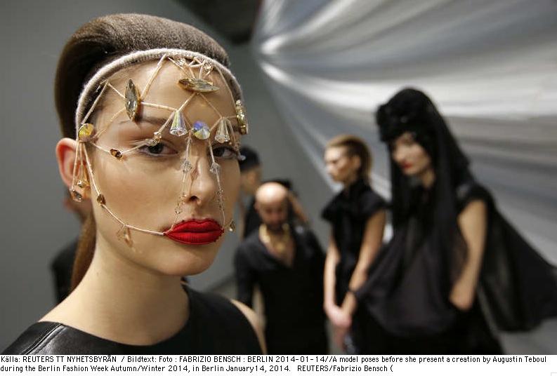 Augustin Tebouls visning under Berlins Fashion week. Foto: Reuters