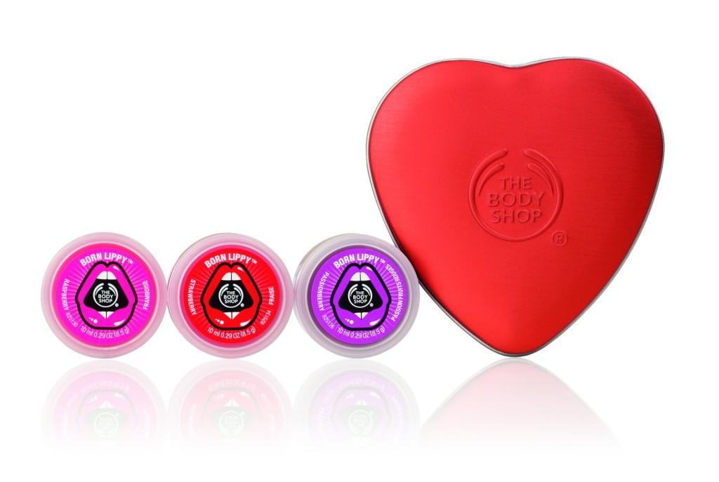 Red Mini Heart Lip Tin