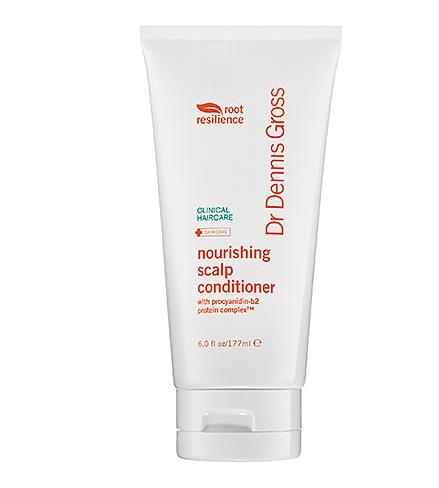 Root Resilience Nourishing Scalp Conditioner från Dr Dennis gross innehåller koppar som sätter sprutt på hårväxten (?)