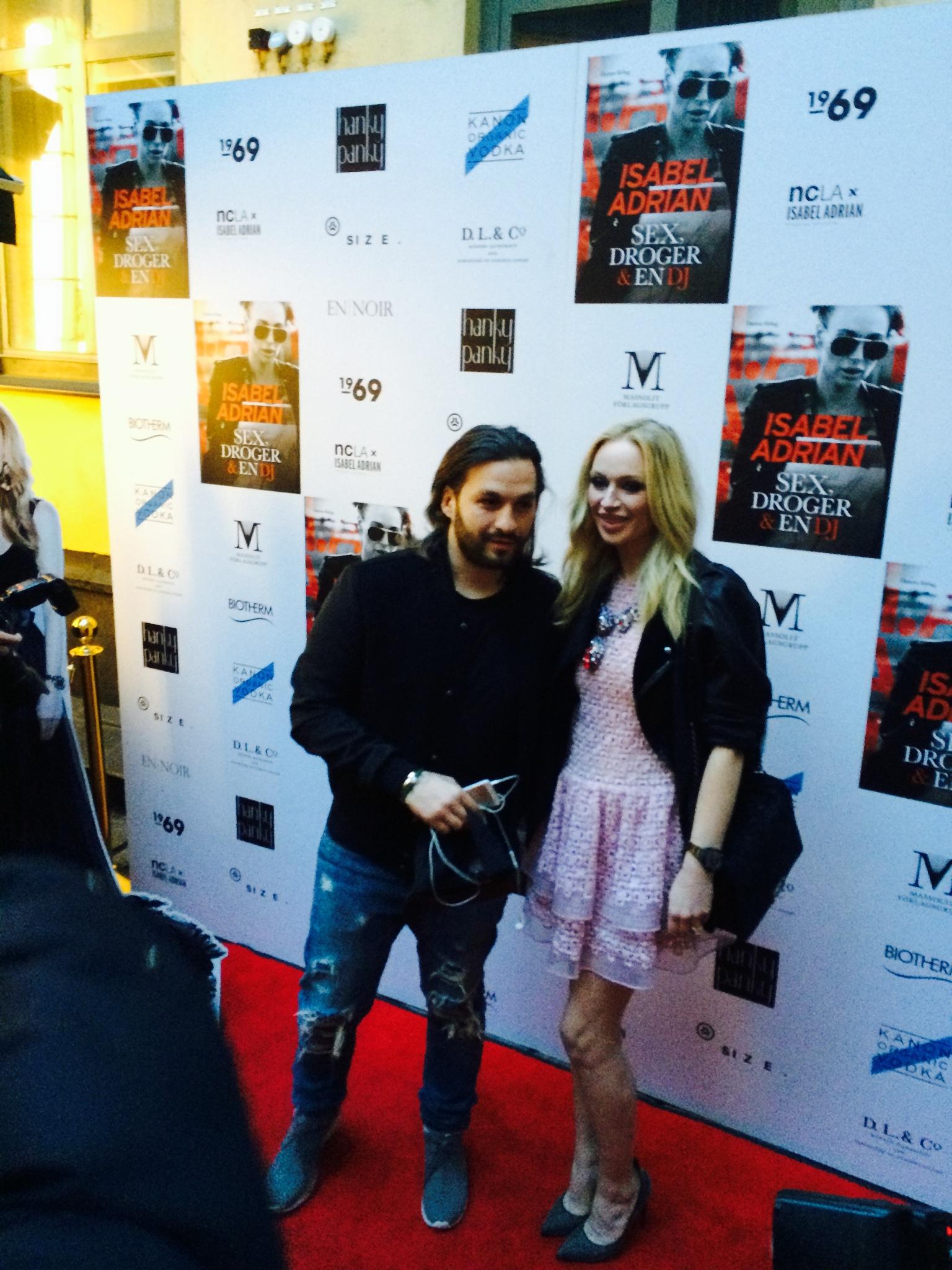 Isabel Adrian med sin man Steve Angelo