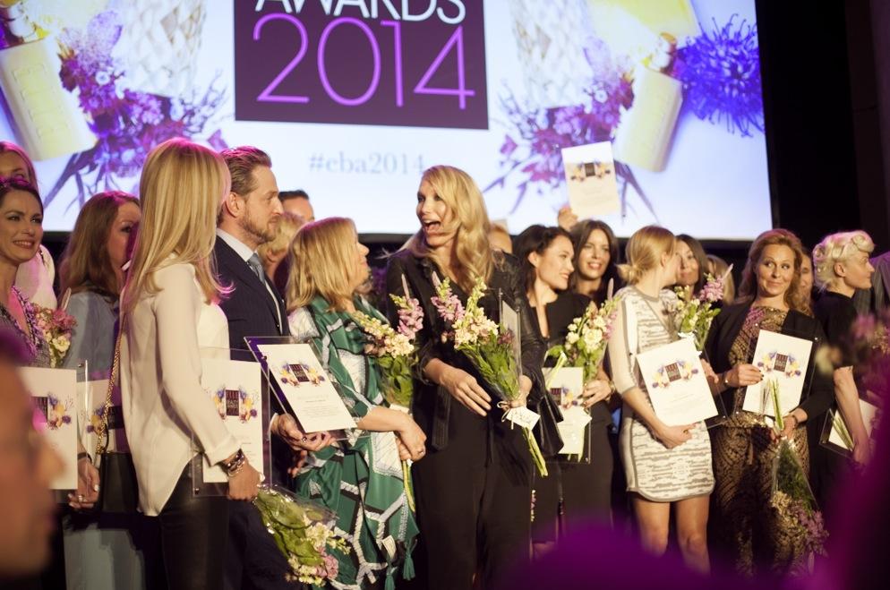 Glada vinnare av Elle Sweden Beauty Award