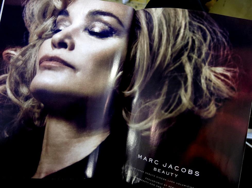 Halvfinska skådespelerskan Jessica Lange frontar Marc Jacobs nya makeuplinje