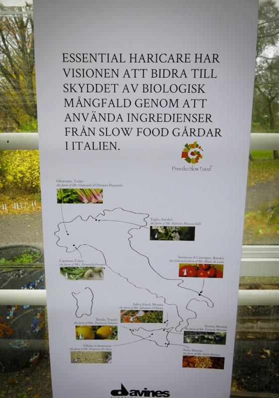 Davines är först ut med att ursprungsmärka sina produkter från slowfoodcerifierade gårdar runt om i Italien.