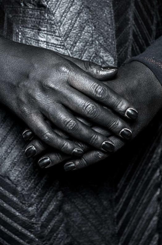 Foto från designern Marko Mitanovskis visning i London. Bild från Getty Images