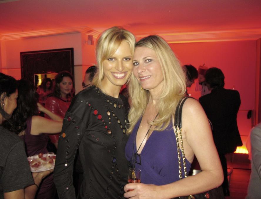 Karolina Kurkova och jag på Cannesfestivalen i Frankrike.