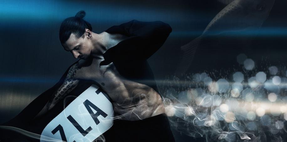Zlatans kampanj för den egna parfymen är fotograferad av