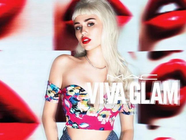 Miley Cyrus har varit Viva Glamtjej tidigare för Mac