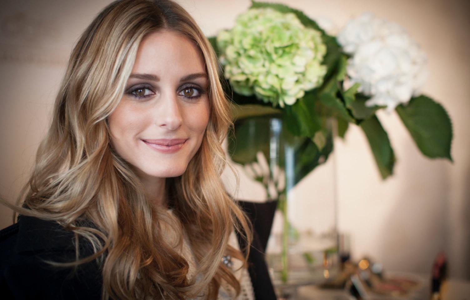 Amerikanska IT-tjejen Olivia Palermo frontar Ciate Londons nya makeup.