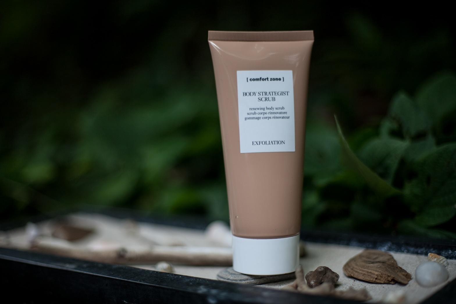 Comfortzones senaste peeling används på torr hud