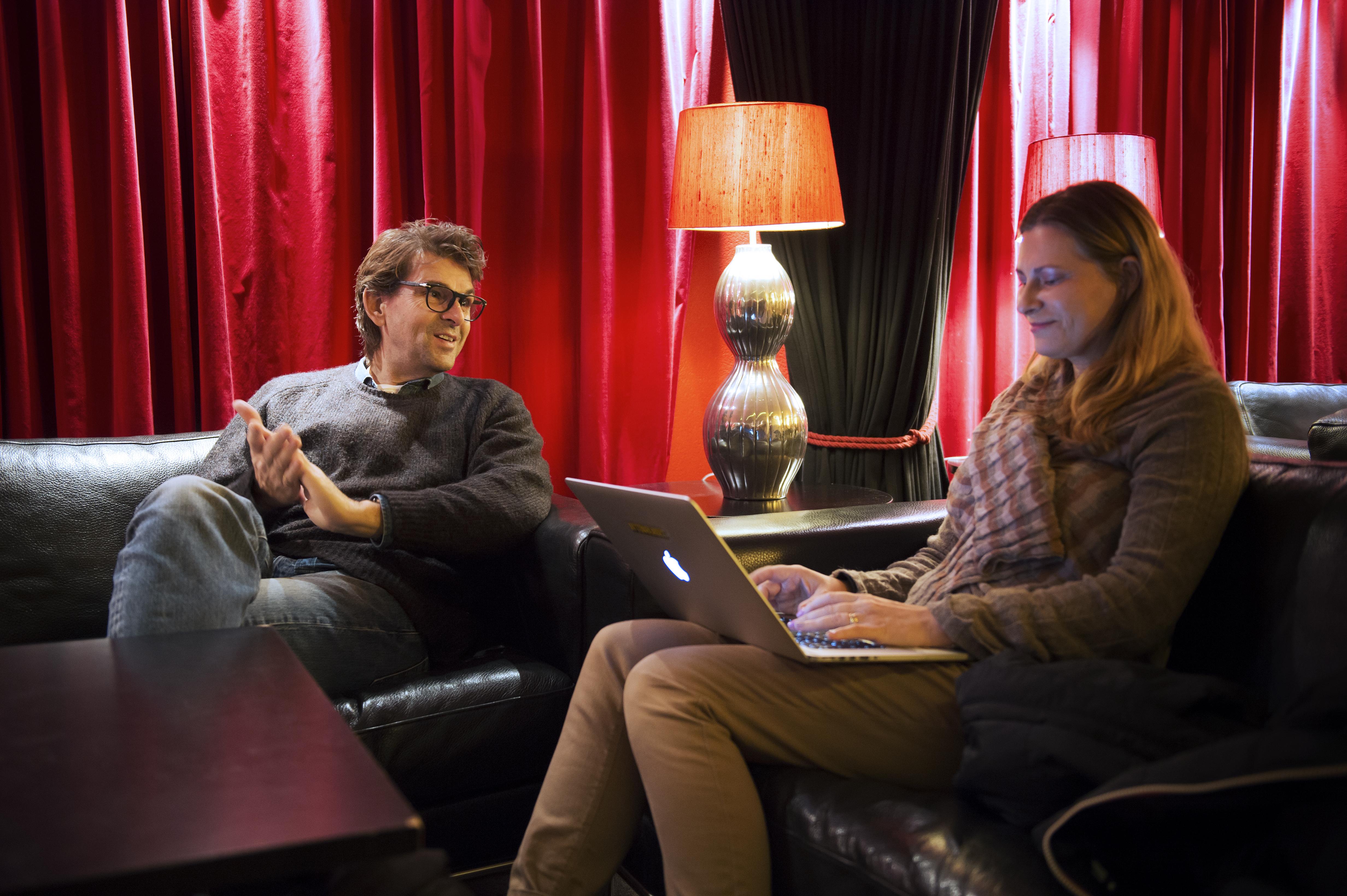 Strömstedt och jag. Skön snubbe! Foto: Aftonbladet