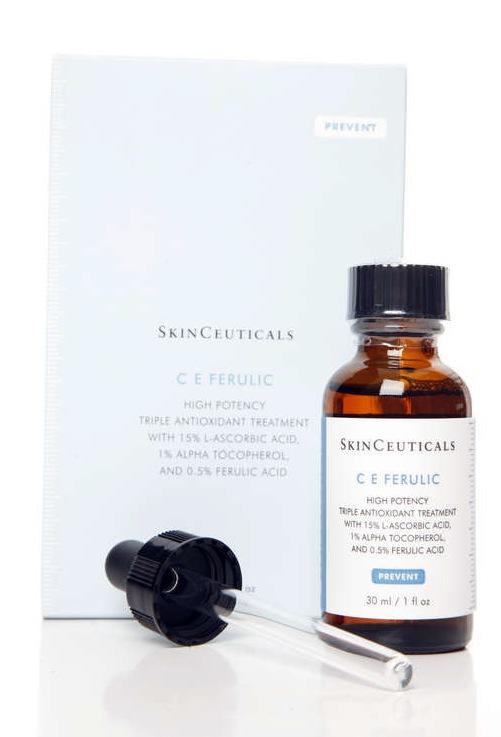 Leta efter produkter med ferulic olja som skyddar huden mot fler solfläckar