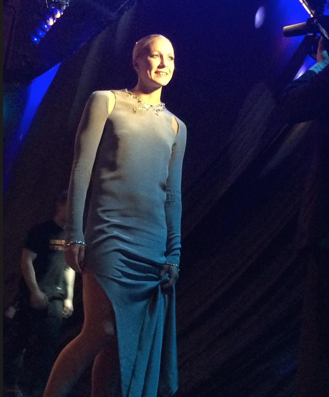 Sarah Sjöström var kvällens stora stjärna och var iklädd en specialdesignad H&M-klänning i ekologisk siden. Sarah vann Jerringpriset 2016 och är vårt största OS-hopp i Rio de Janeiro 2016