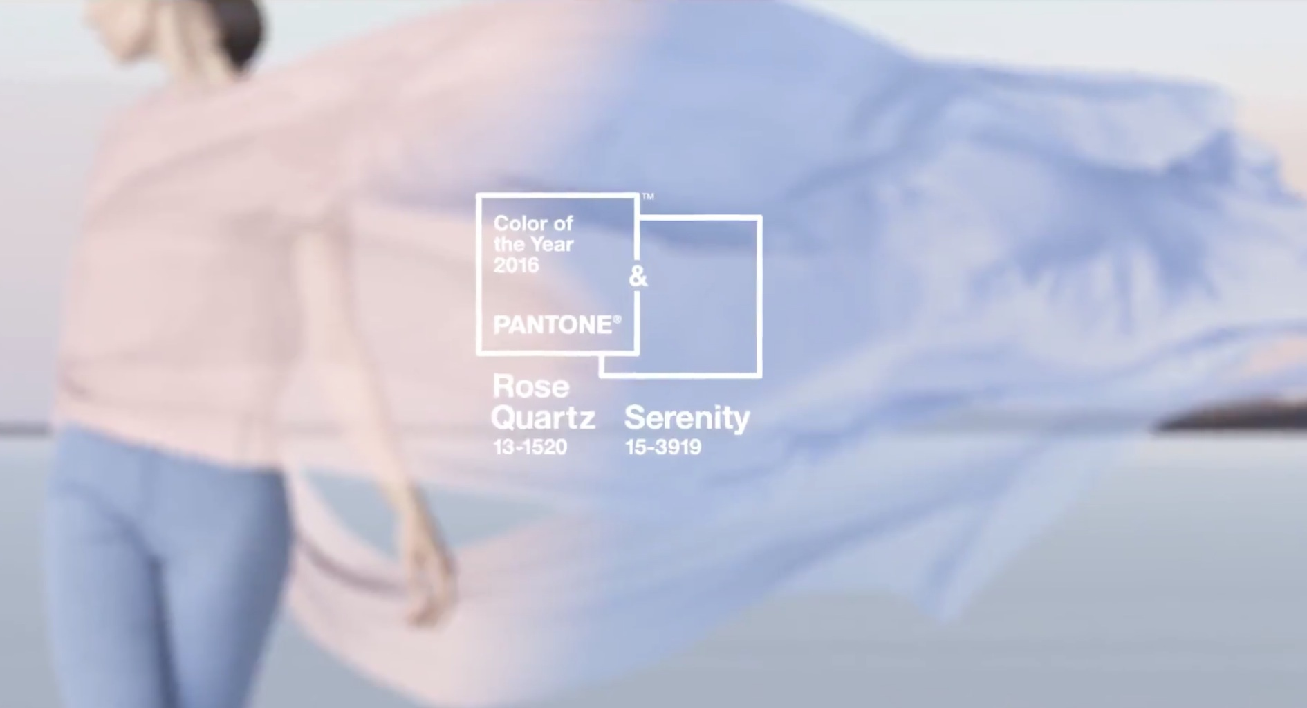 Rosequarts och Serenity är färginstitutet Pantones trendfärger 2016.