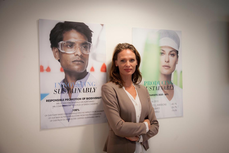 Maria Mossenberg på L'Oreal vurmar för hållbarhet. Det gillar vi