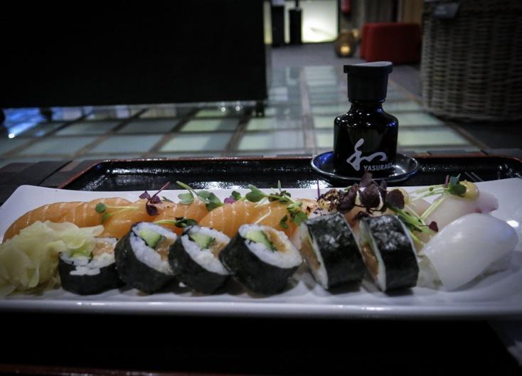 Jag avslutade besöket på Yasuragi med en supergod sushi-tallrik. Vad annars?