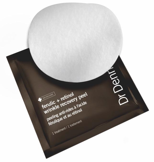 Dr Dennis Gross har tillsatt retinol i sina peelingpads som också är indränkta i ferulicsyra.