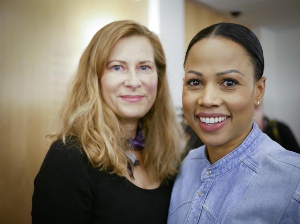 Agneta Elmegård med Alice Bah Kuhnke