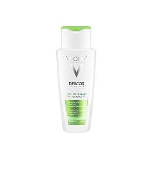 Dercos Mjällschampo för normalt till fett hår  innehåller selensulfid som skapar balans i hårbotten och motverkar mjäll.