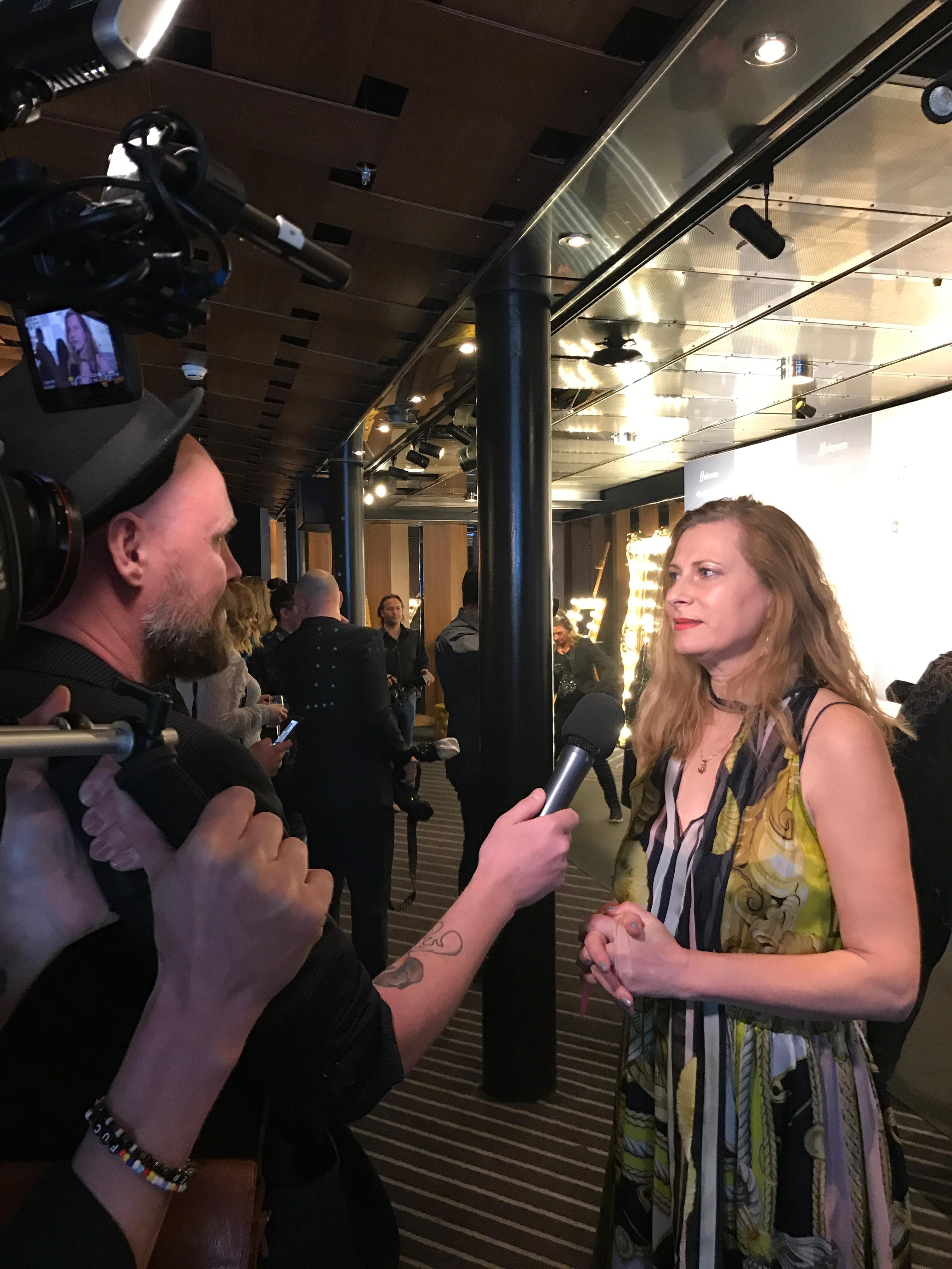 Jag blev intervjuad av ett filmteam om hur jag ser på mitt arbete i juryn och hur jag tror branschen ser ut om tio år.