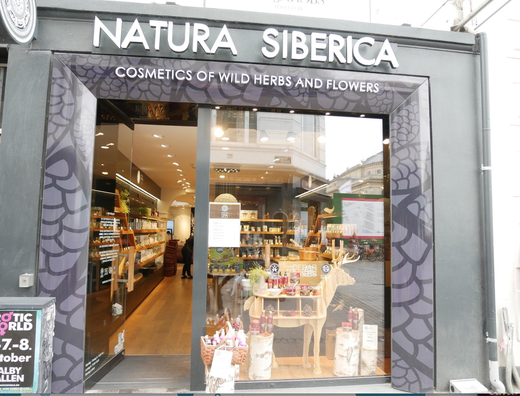 Ryska Natura Siberica har förlagt sin enda skandinaviska butik i just Köpenhamn