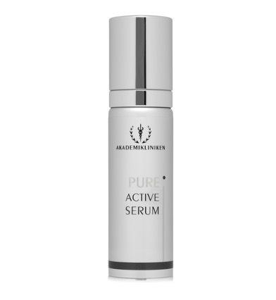 Akademiklinikens Pure Active Serum är Lena Olins favoritprodukt när det kommer till hudvård.