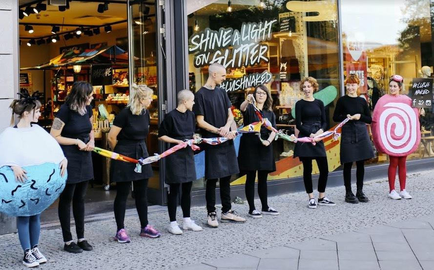 Invigningen av den förpackningsfria butiken i Berlin