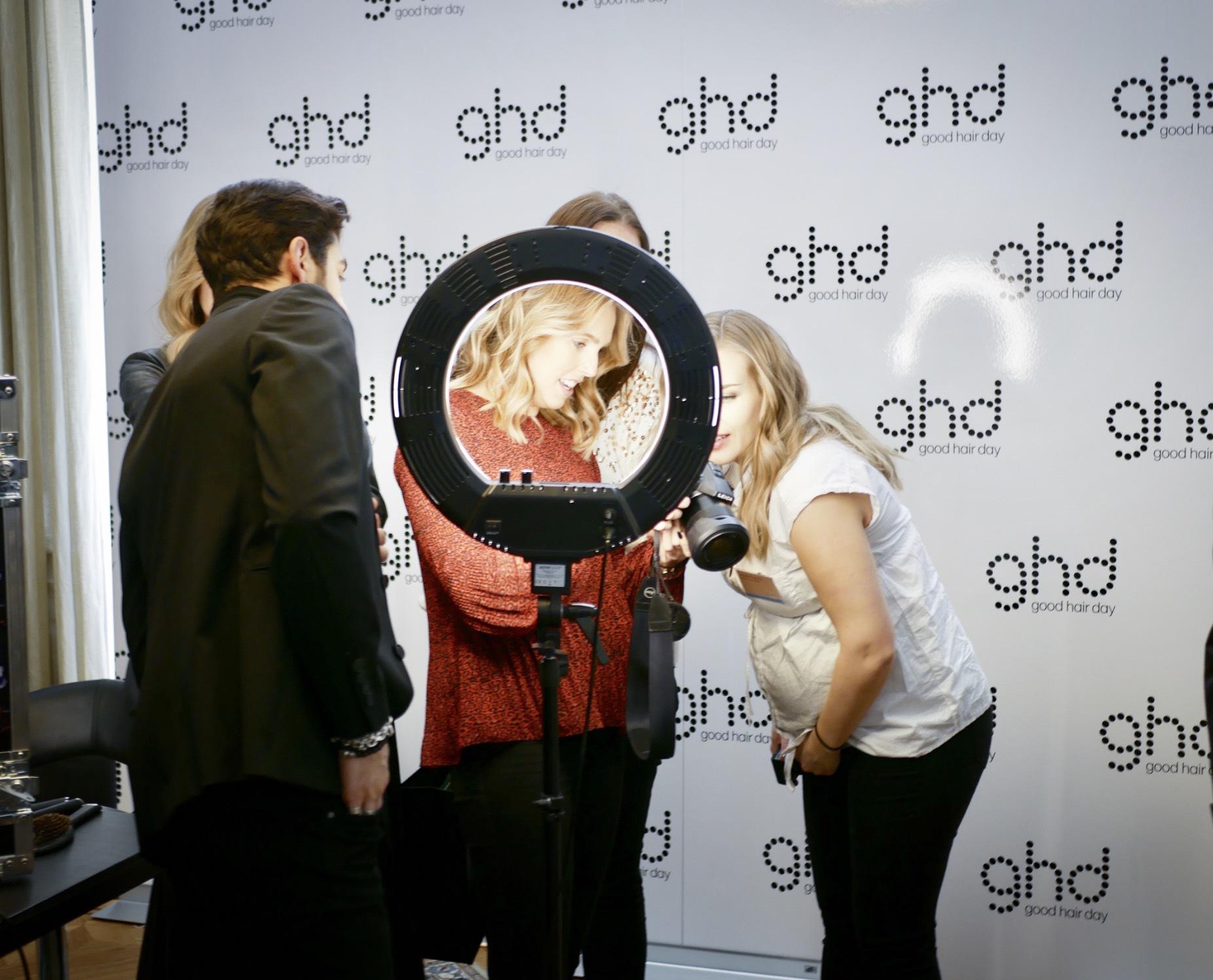GHD var på plats och där kunde man få ett proffsigt foto med sig hem när man hade blivit stylad av Antoine Astour som är GHD:s creative director
