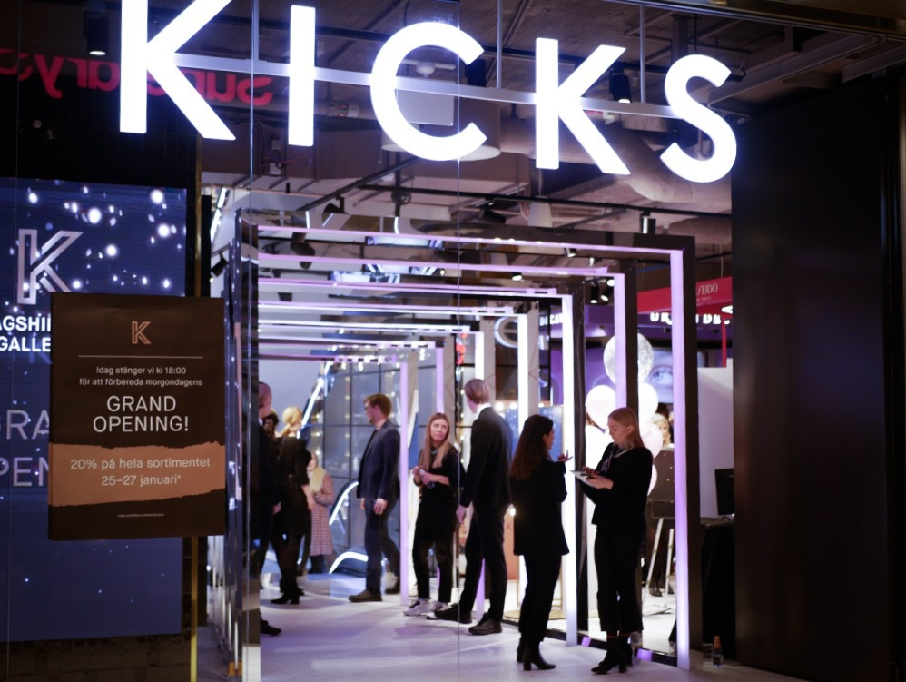Kick nya Concept Store ligger i Gallerian på Hamngatan 37 i Stockholm
